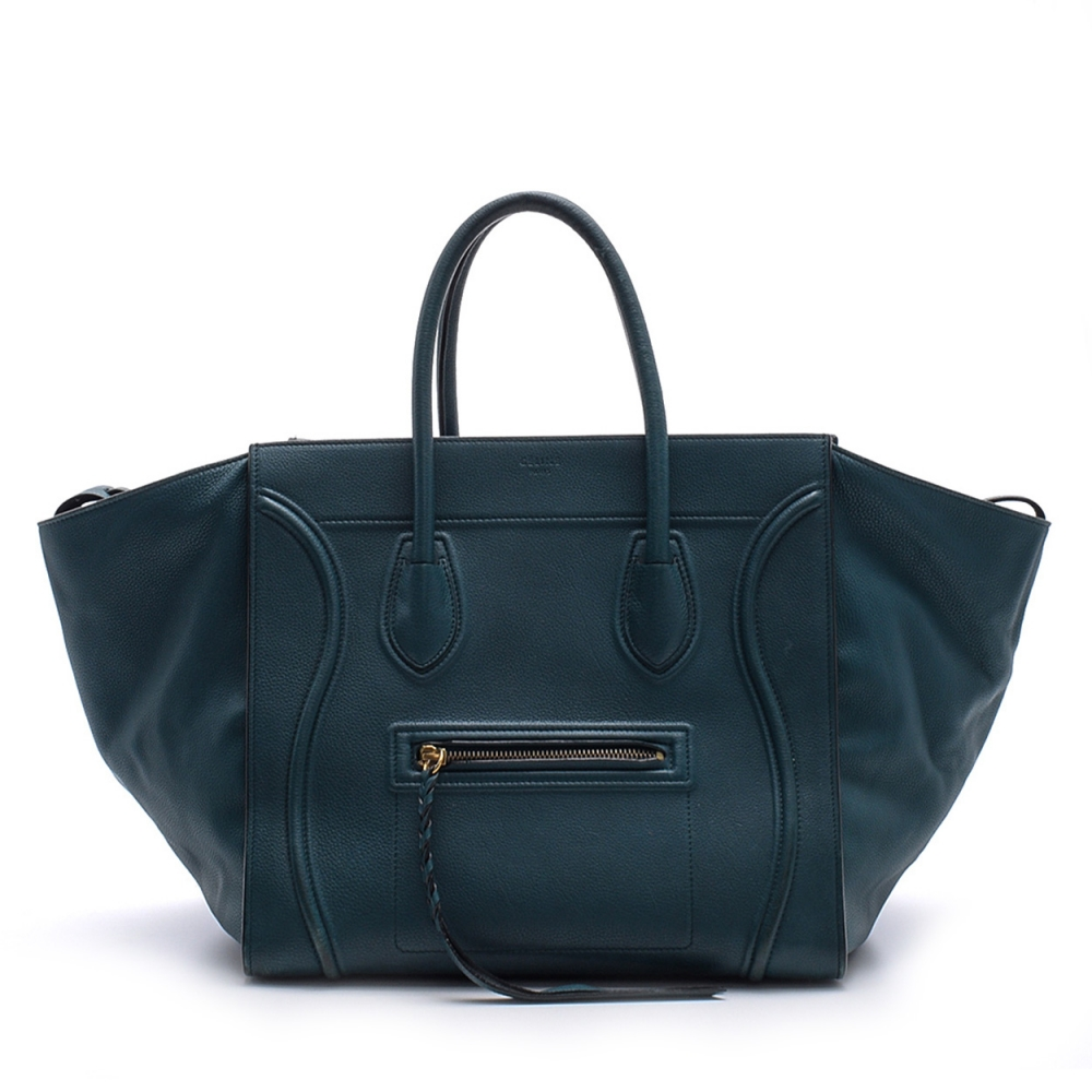 Celine - Emerald  Medium Phantom Luggage Tote Bag