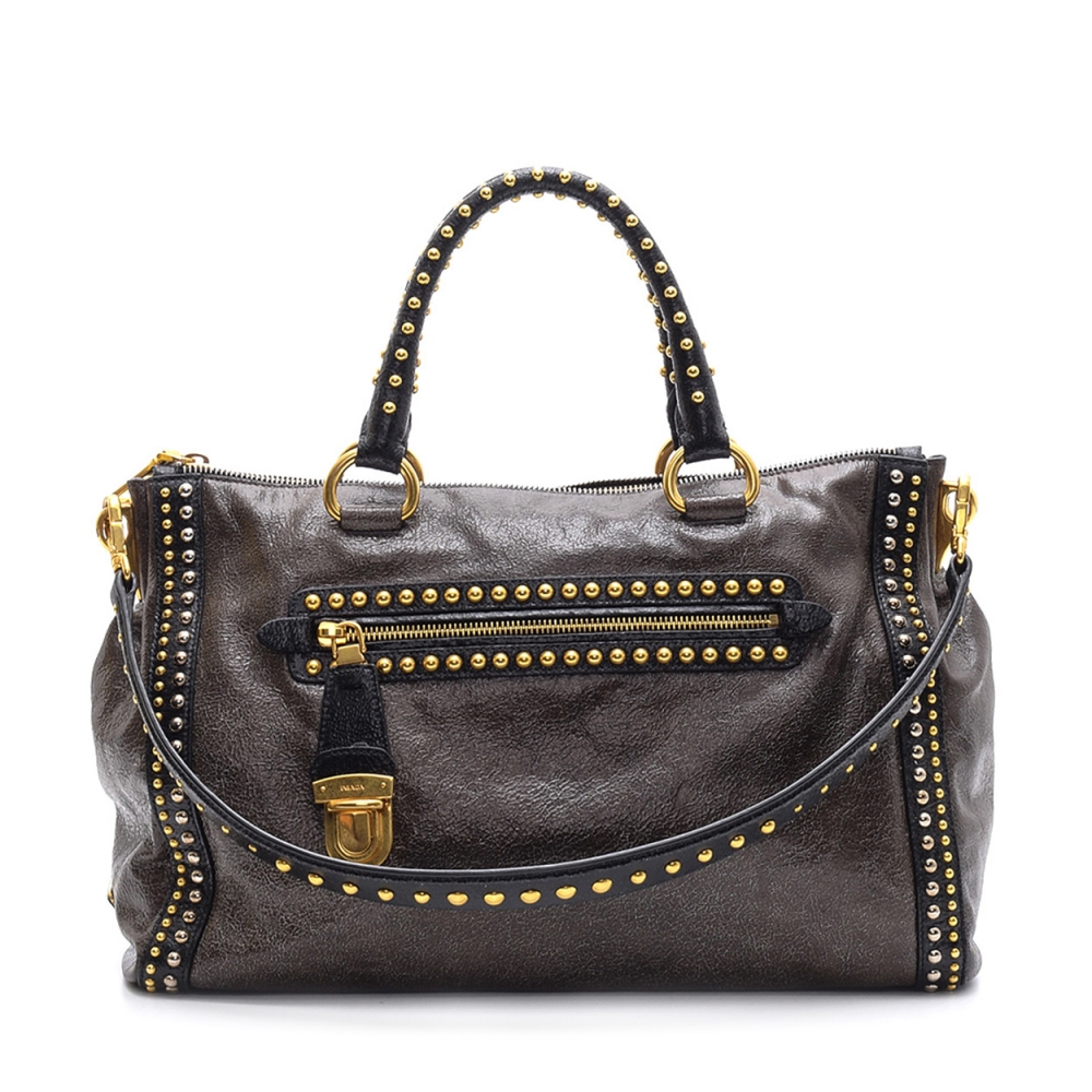 Prada -  Bauletto Tophandle and Shoulder Bag