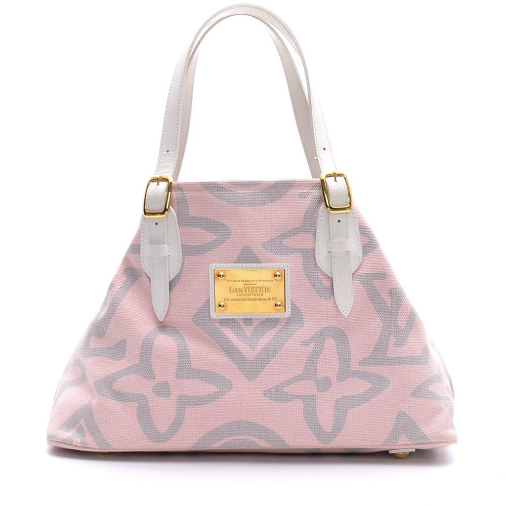 LOUIS VUITTON -   SOFT PINK CANVAS LIMITED EDITION TAHITIENNE CABAS PM BAG