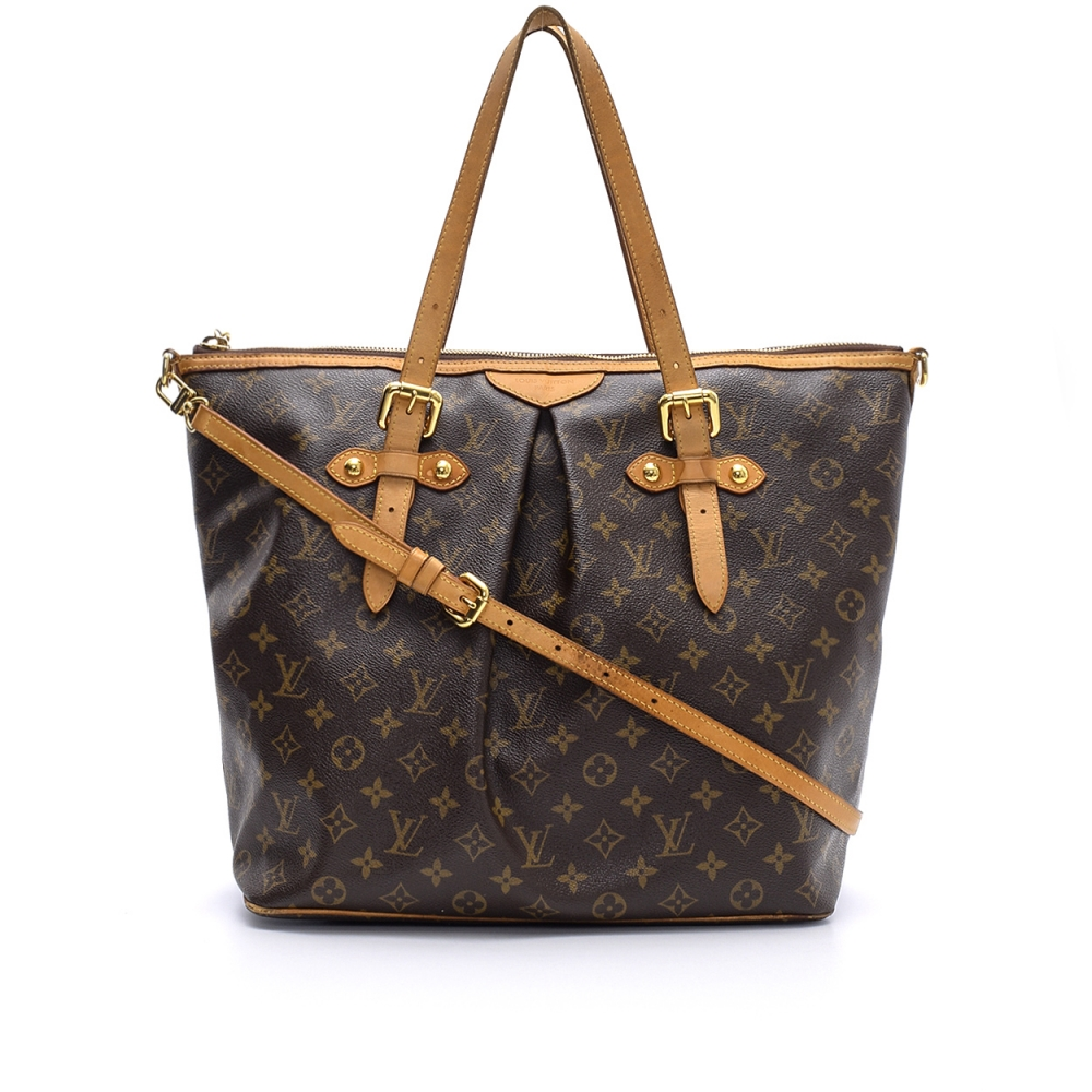Louis Vuitton - Monogram Canvas Leather Palermo  Gm   Bag