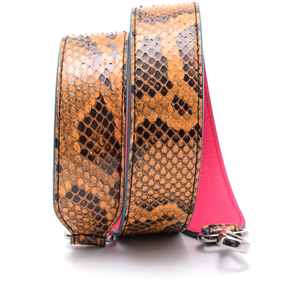 Fendi - Orange  Python Leather Shoulder Strap