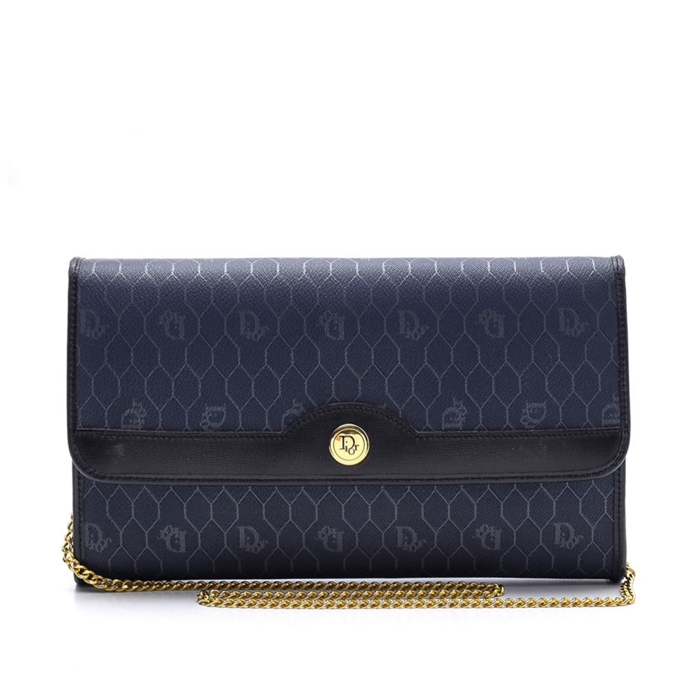 Christian Dior - Navy Blue Leather  Flap Bag