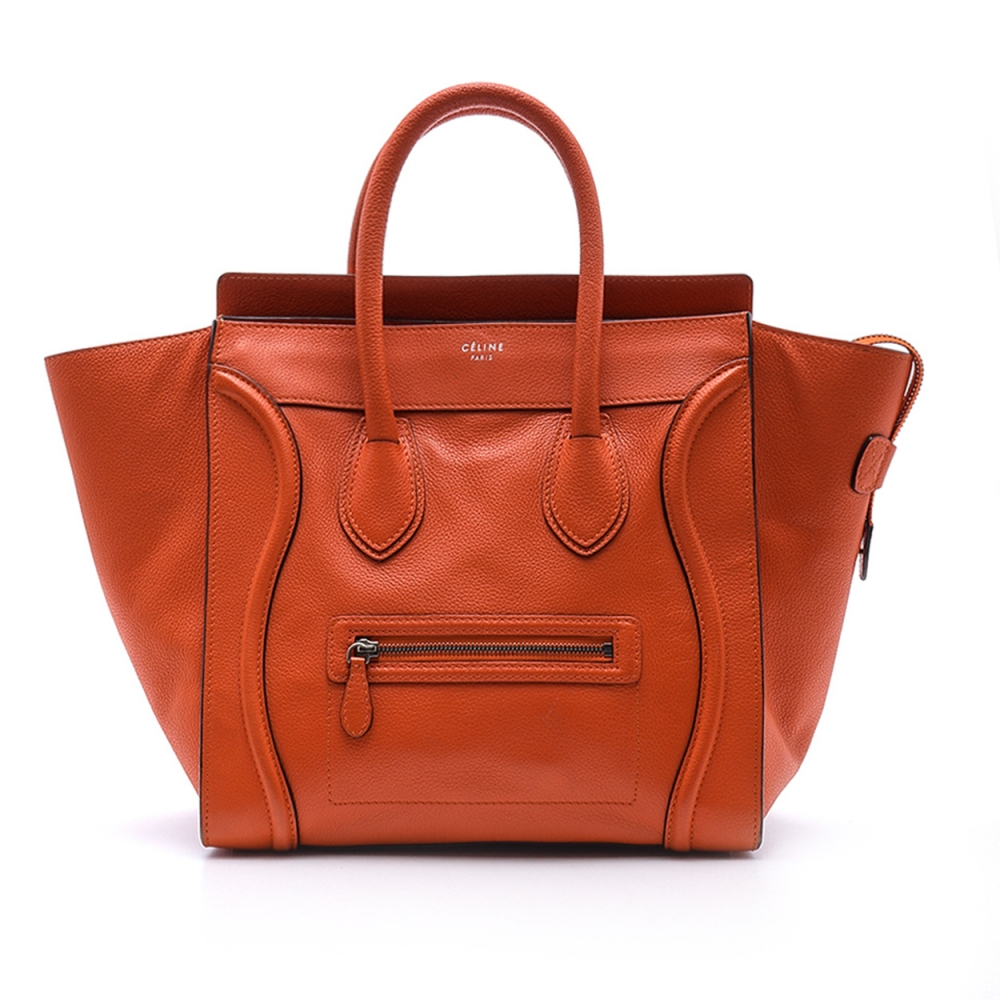 Celine -  Red Leather Medium Luggage Tote Bag