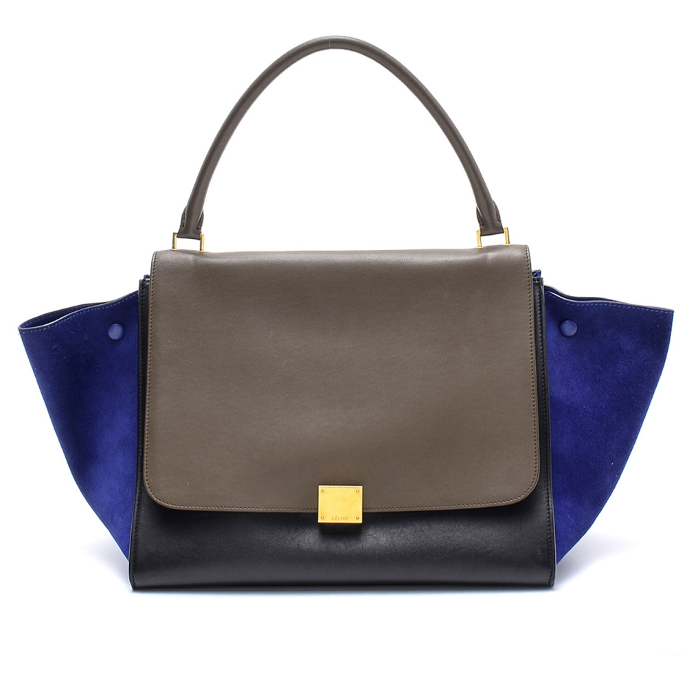 Celine - Tricolor Leather Large Trapeze Bag