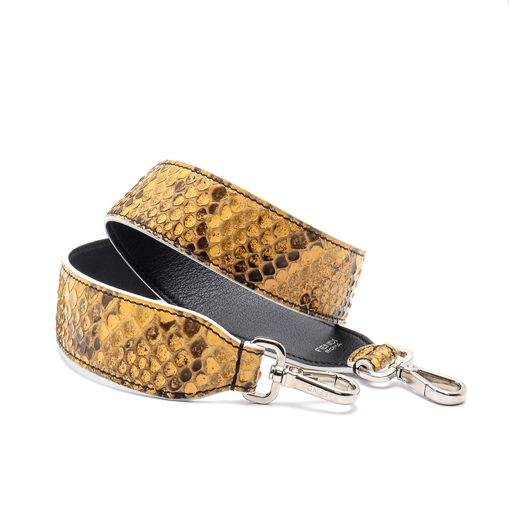 Fendi - Yellow   Python Leather Shoulder Strap