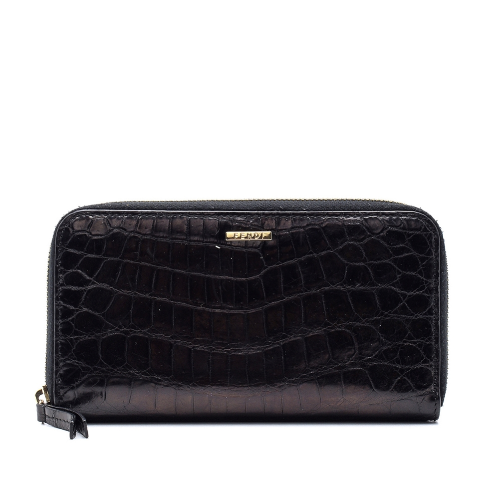 Fendi - Blue Crocodile   Leather Wallet