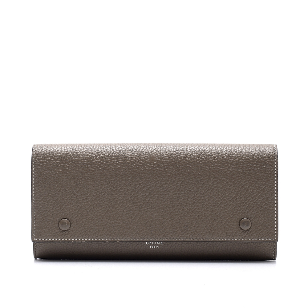 Celine  - Stone Grained  Leather Wallet