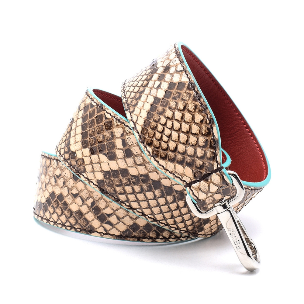 Fendi - Brown  Python Leather Shoulder Strap