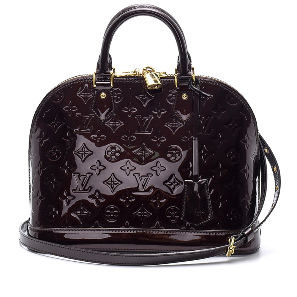 Louis Vuitton - Monogram Vernis Amarante Leather Alma Pm Bag