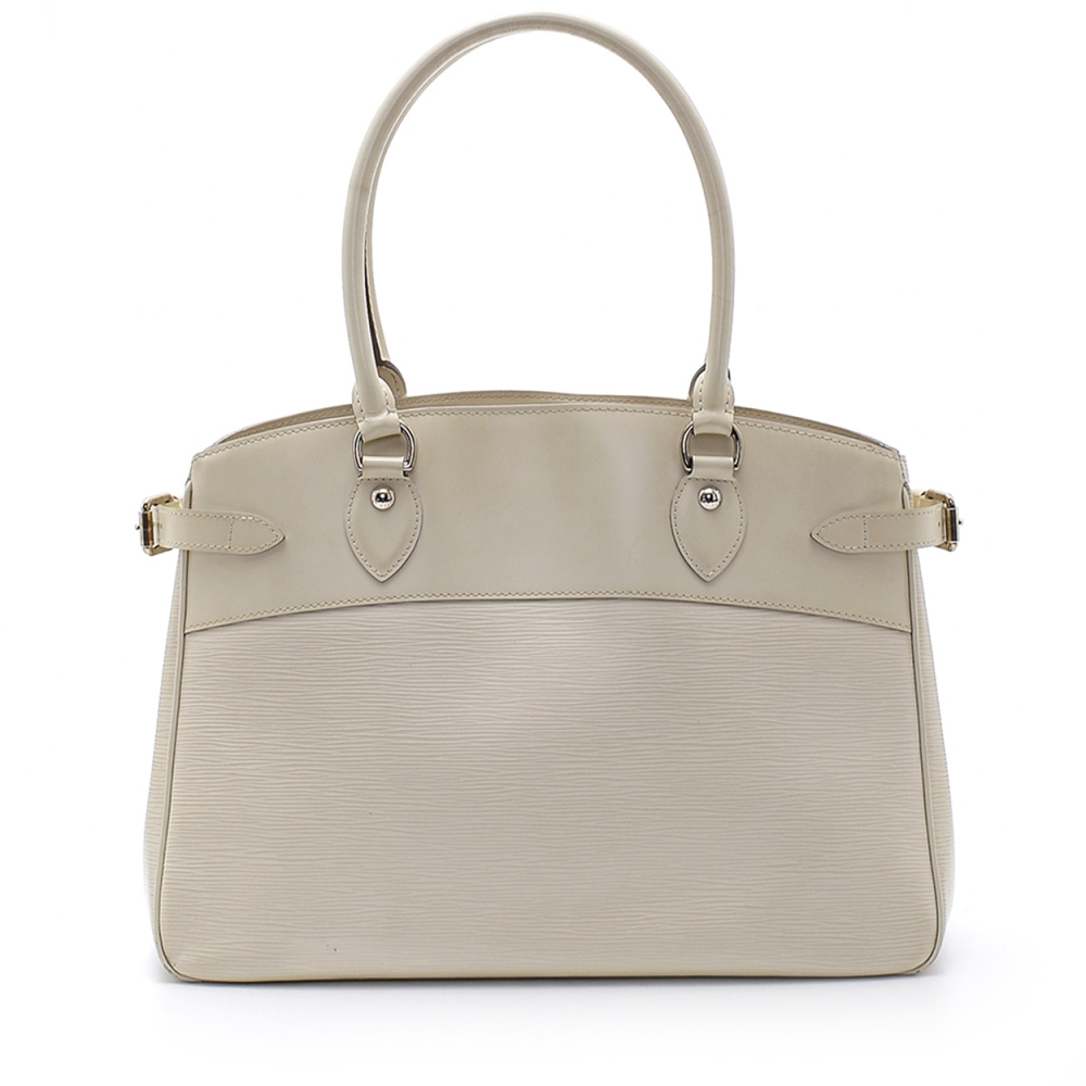 Louis Vuitton - White Epi Leather Passy Gm Bag