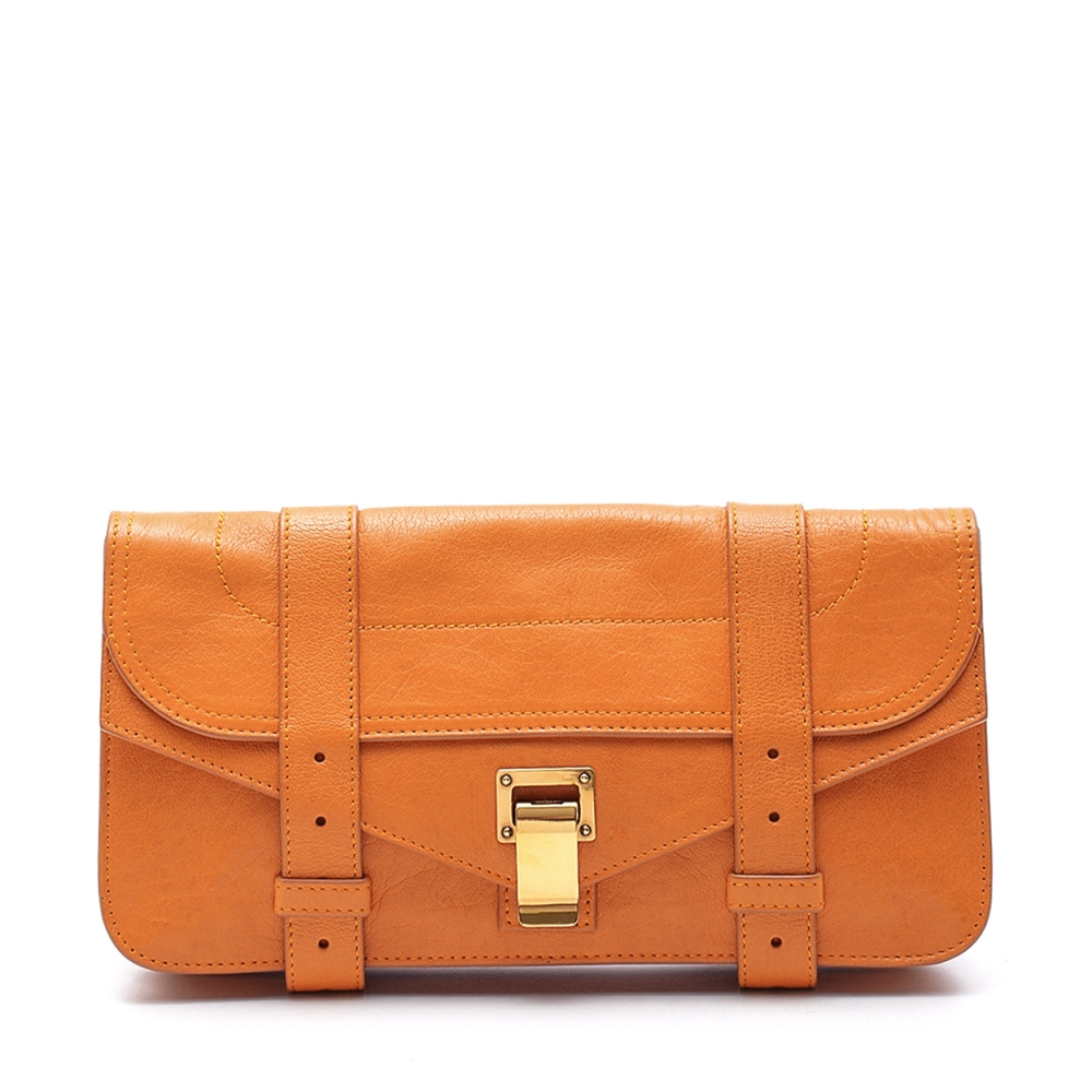 Proenza Schouler - Orange Leather Ps1 Pochette Clutch Bag