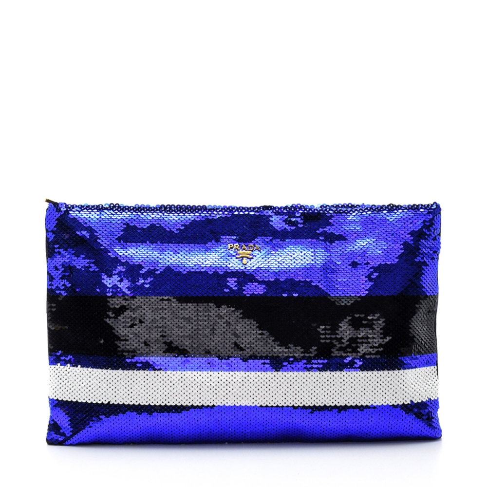 Prada - Blue Degrade Sequin Clutch Bag
