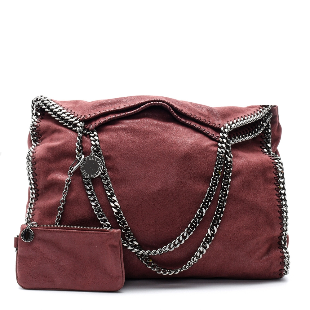 Stella Mccartney - Bordeaux Falabella Large Tote Bag