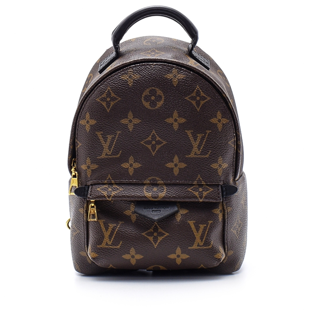 Louis Vuitton - Monogram Canvas Leather Palm Springs Mini Backpack