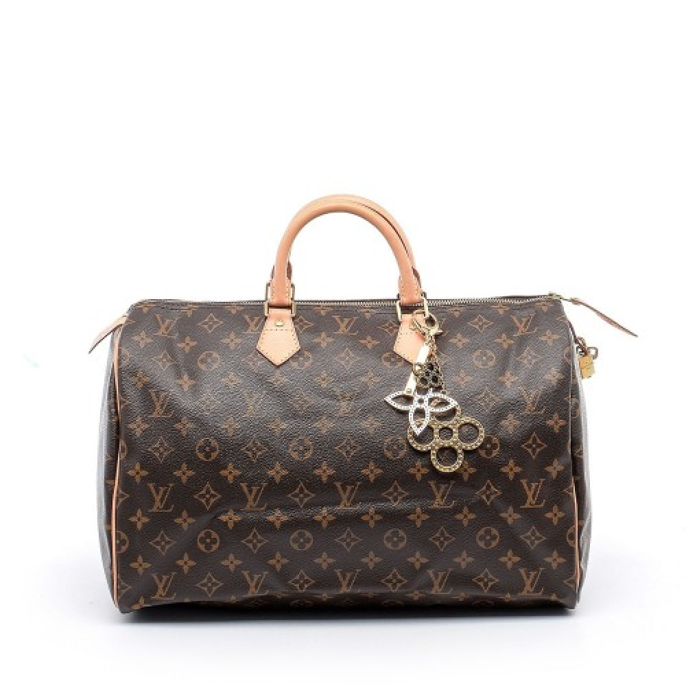 Louis Vuitton - Monogram Canvas Leather Speedy 40 Bag