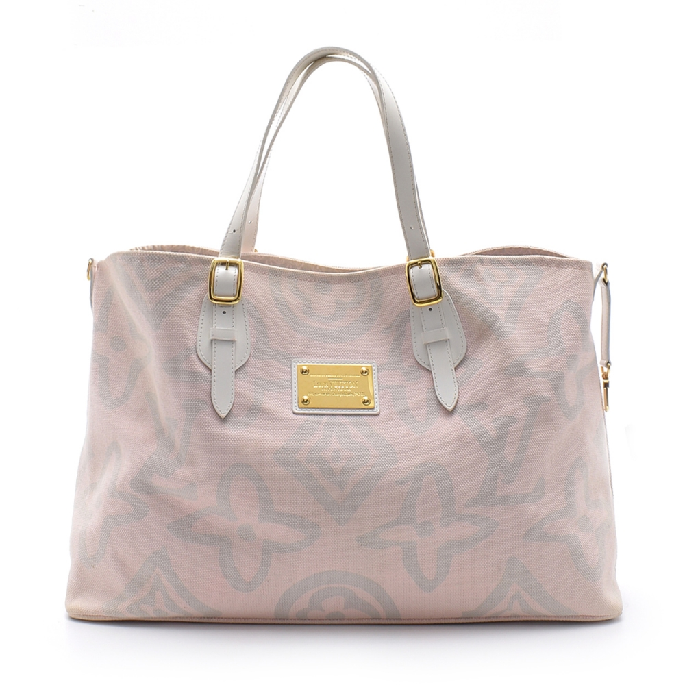 Louis Vuitton -   Soft Pink Canvas Limited Edition Tahitienne Cabas Gm Bag