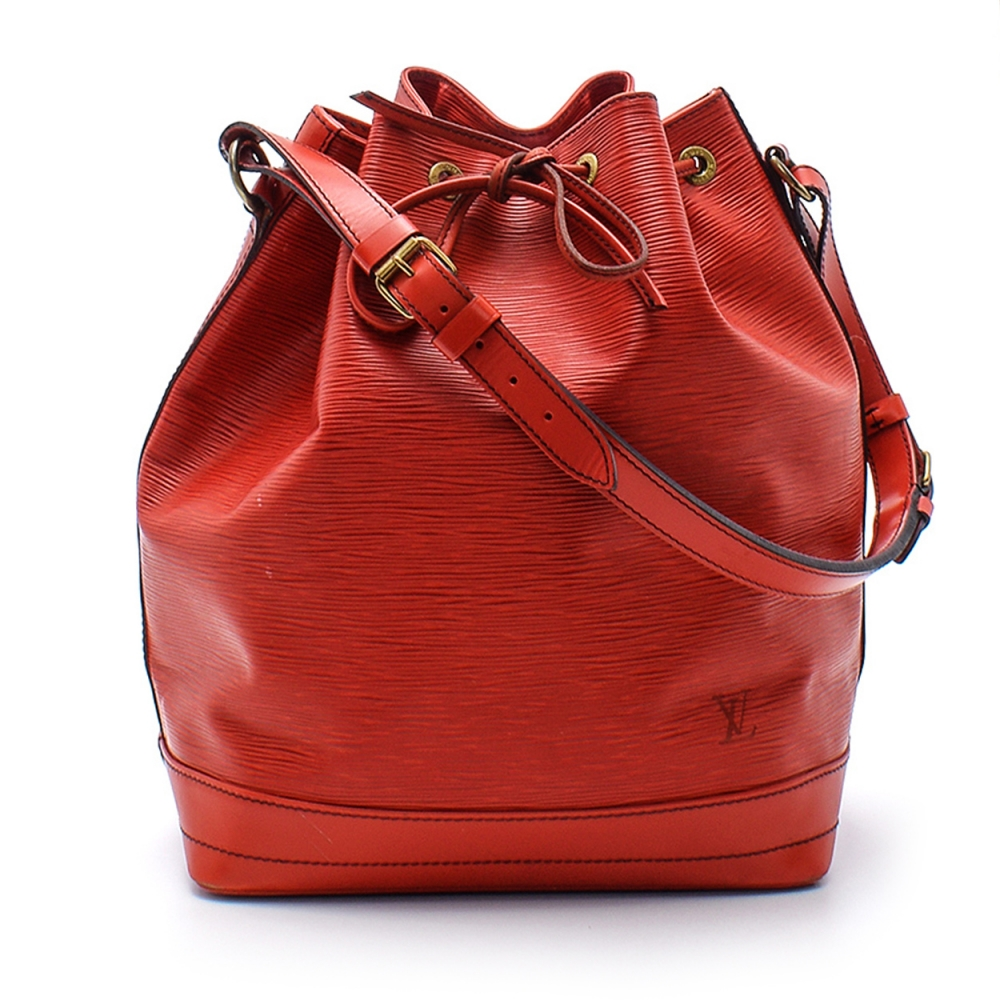 Louis Vuitton - Red Epi Leather Noe Bucket Bag