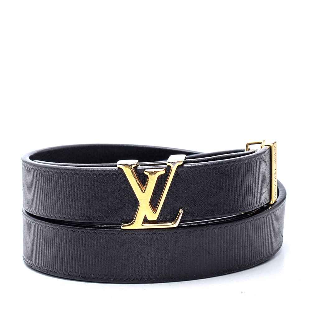 Louis Vuitton - Black Leather Belt