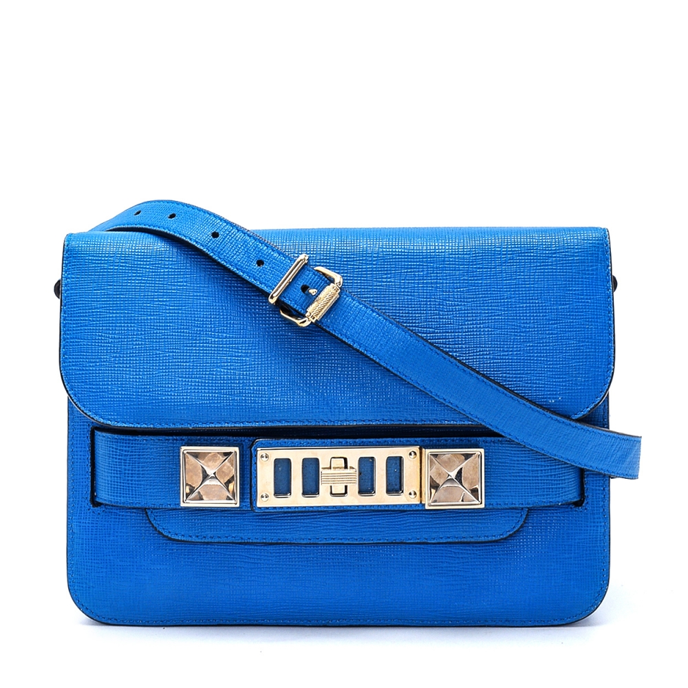 Proenza Schouler - Blue Leather PS11 Crossbody Bag