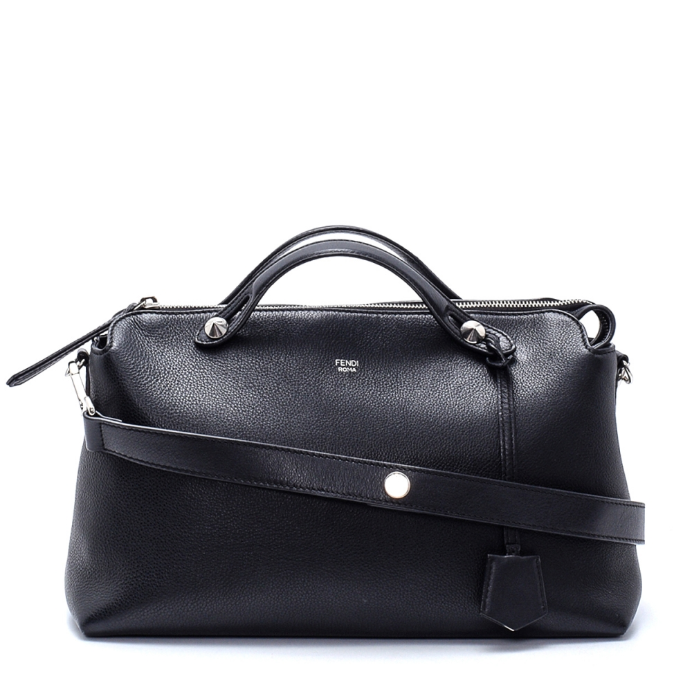 Fendi - Black Color Leather by the Way Medium Boston Bag
