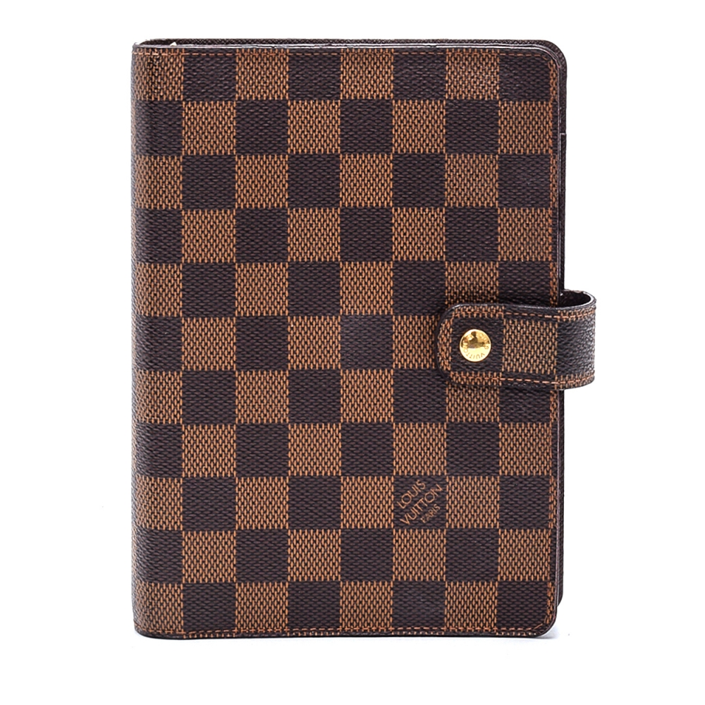 Louis Vuitton - Damier Ebene Canvas Leather Agenda