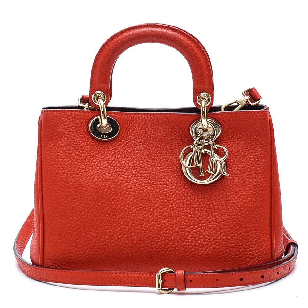 Christian Dior - Red Calfskin Leather Diorissimo Bag