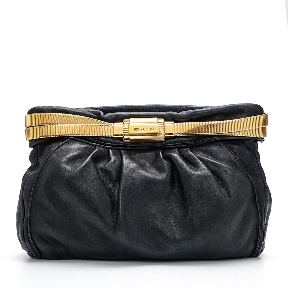 Jimmy Choo - Black Leather Pouch