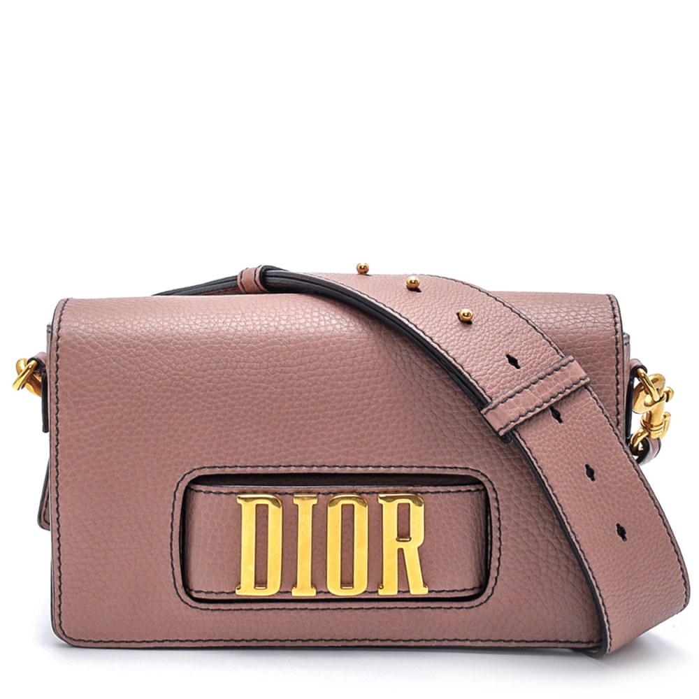 Christian Dior - Lilac Leather  Diorevolutien Leather Flap Bag