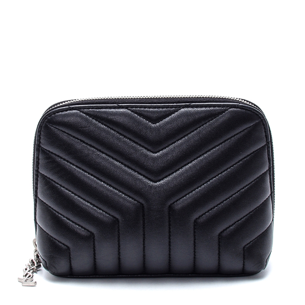 Yves Saint Laurent - Black Leather Loulou Makeup Case