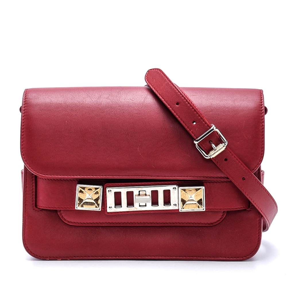 Proenza Schouler - Bordeaux  Leather Ps11 Wristlet  Crossbody Bag