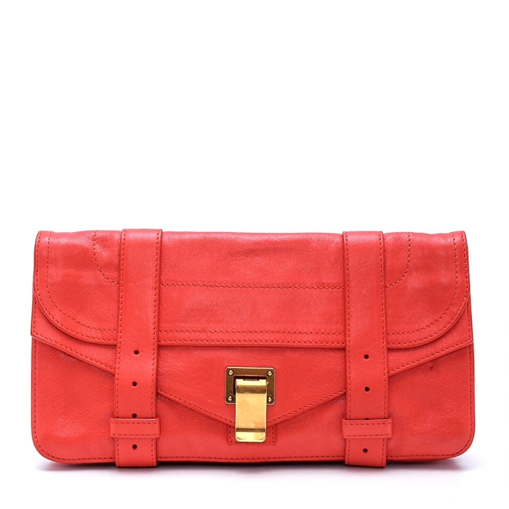 Proenza Schouler - Coral Leather Ps1 Pochette Clutch Bag