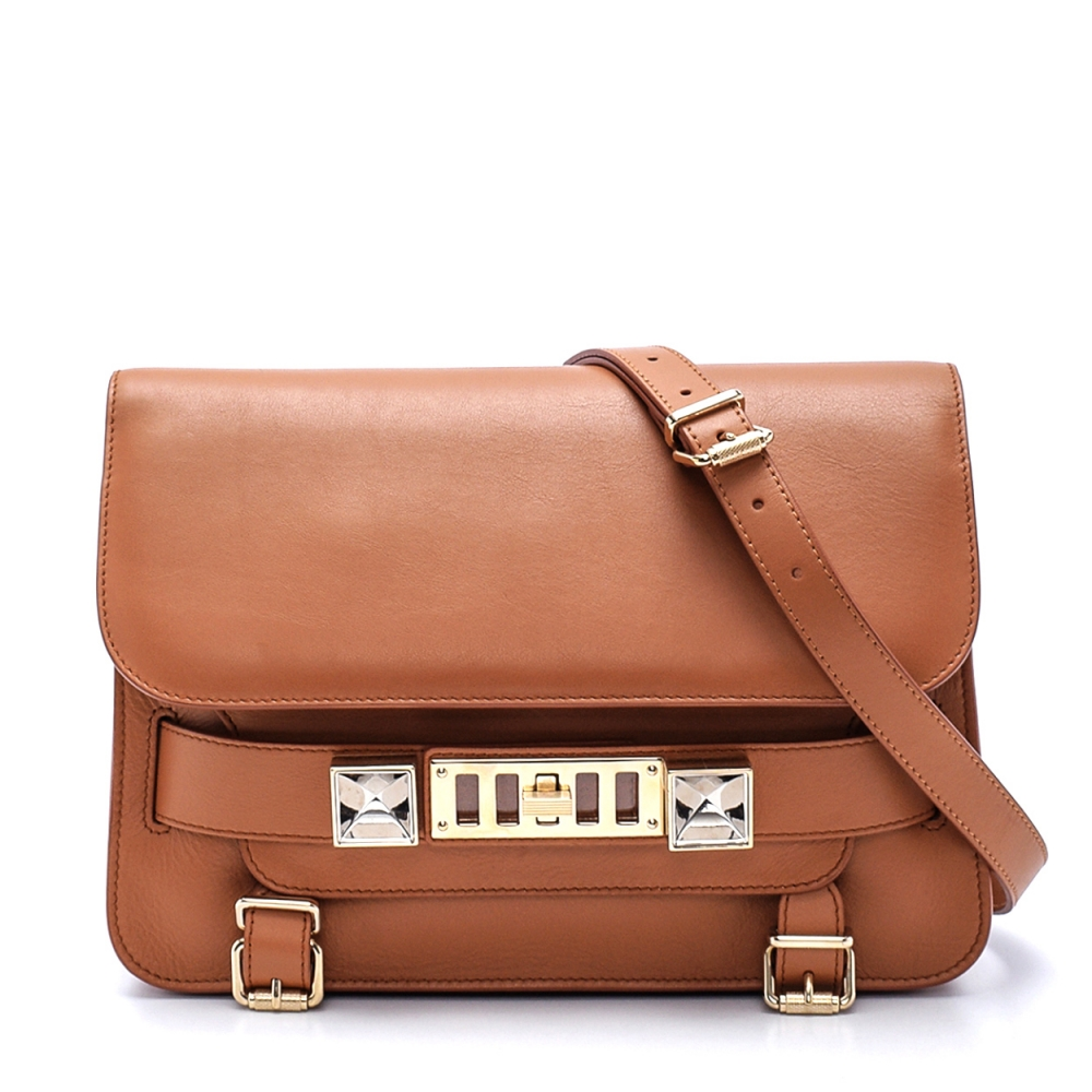 Proenza Schouler - Tabac  Leather Ps11 Wristlet Crossbody Bag