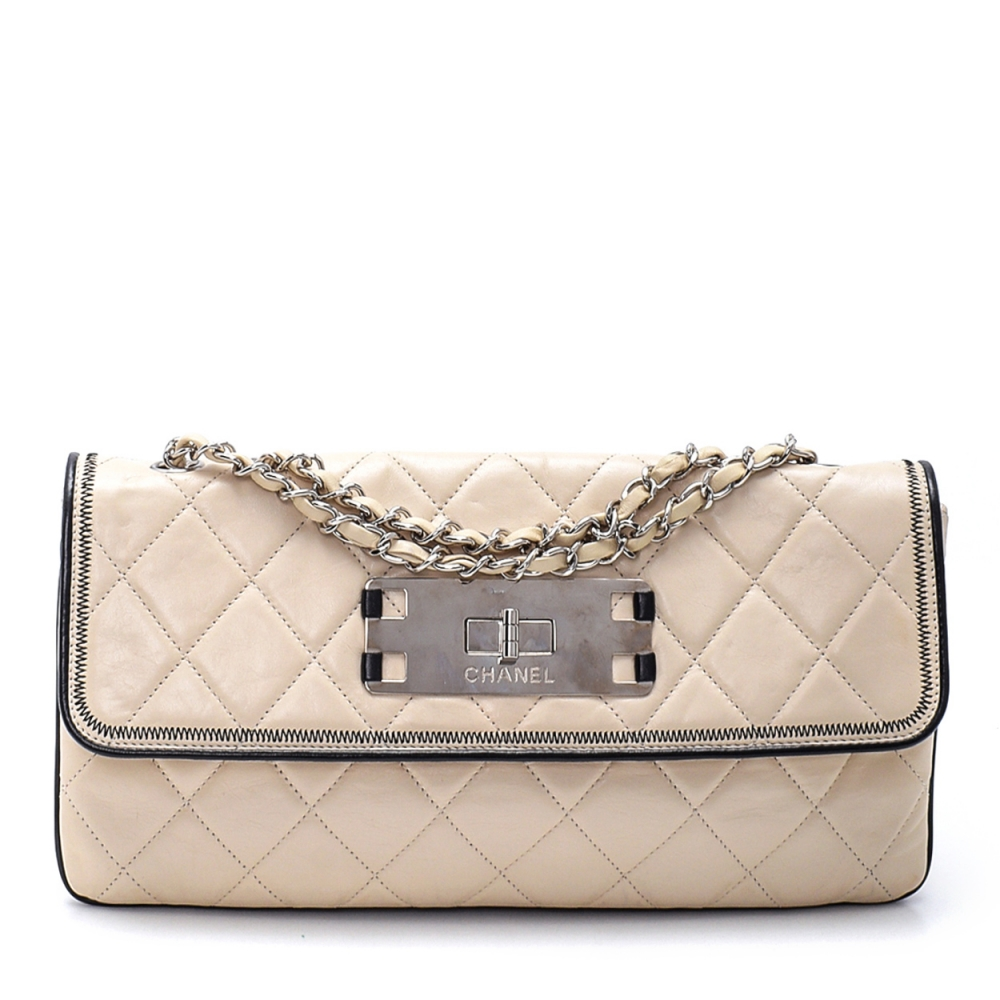 Chanel- Whıte Lambskın Quılted Reıssue Vıntage Flap Bag