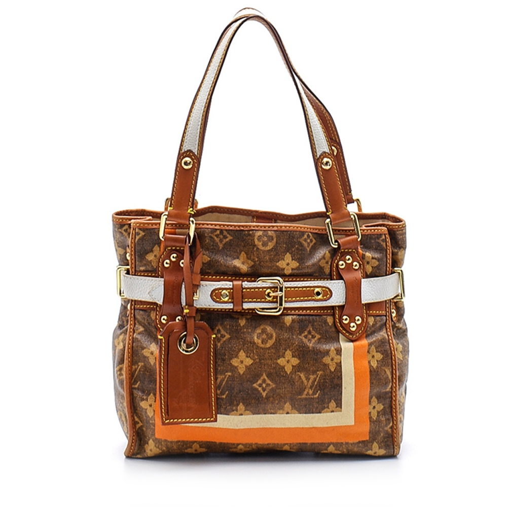 Louis Vuitton - Monogram Canvas Leather Tissue Rayures Pm Bag