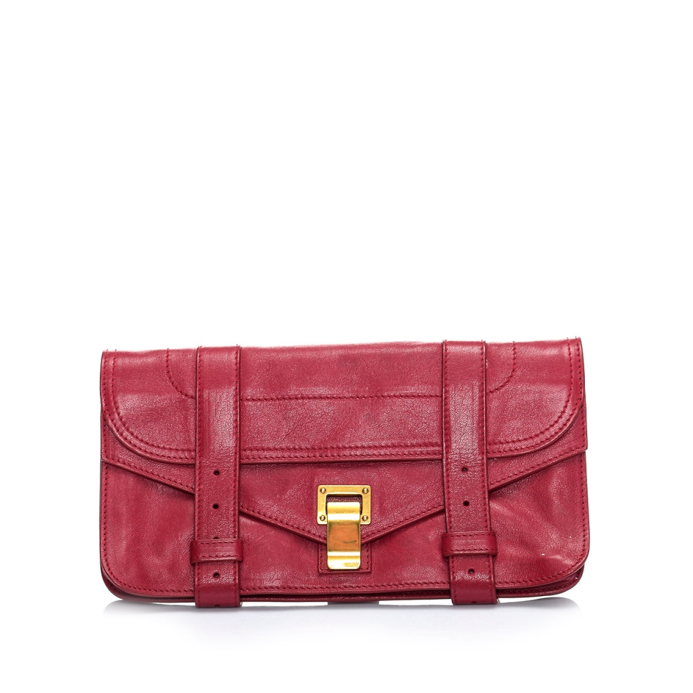 Proenza Schouler - Red Leather Ps1 Pochette Clutch Bag