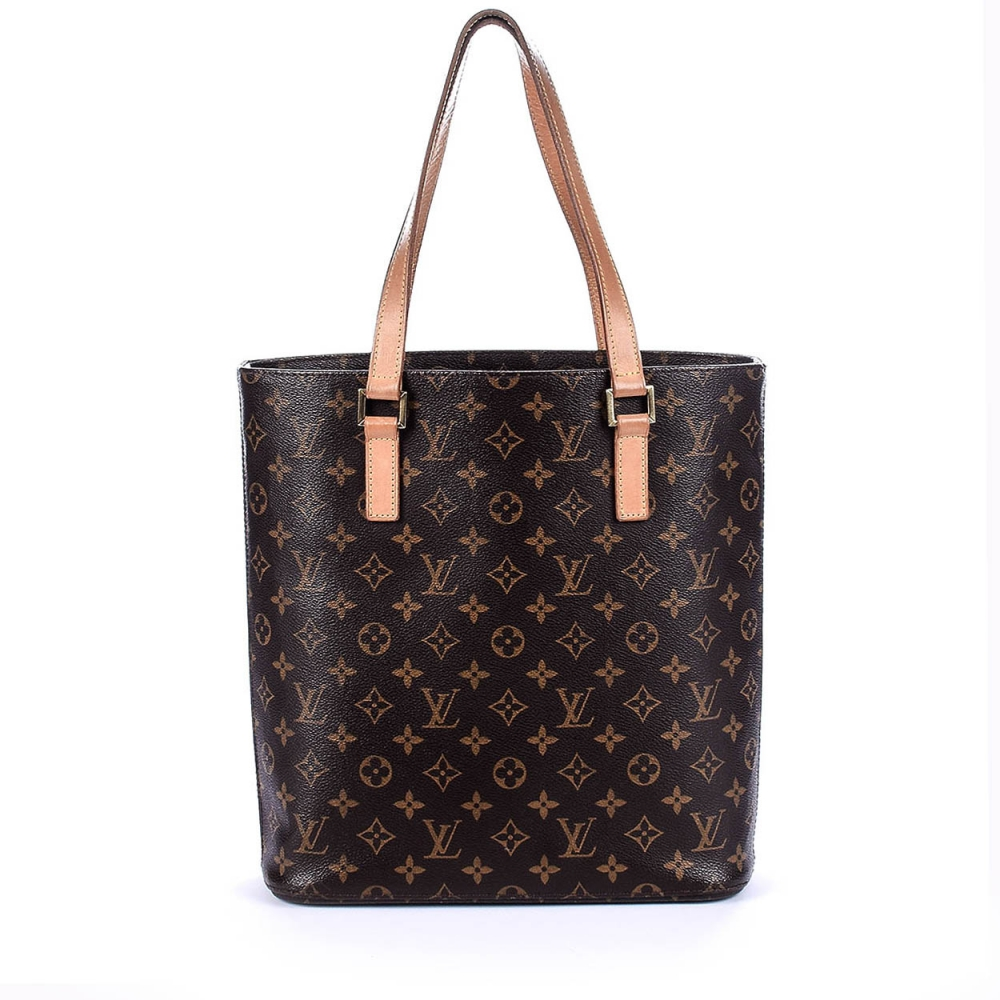 LOUIS VUITTON -   Monogram Canvas Leather Medium Shopping Bag