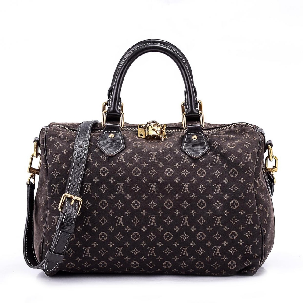 LOUIS VUITTON -   Mini Lin Brown Speedy Bandouilere 35 Bag