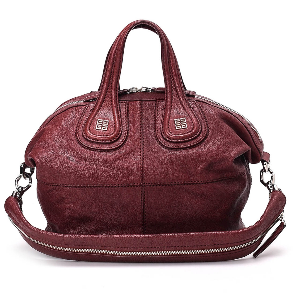 Givenchy - Nightingale Small Bordeaux Leather Bag